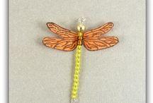 PENDENTIFS LIBELLULES / breloques, pendentifs originaux de libellules, fait-main, pour loisirs créatifs, fabrication de bijoux