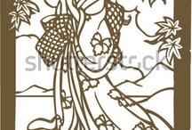 stencil geisha