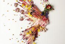 Geperste bloemsierkunst