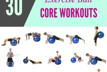Excercise ball workout