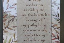 Sentiments for cards and sympathy cards