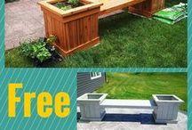 Planter bench box