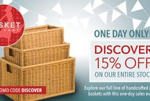 Wicker Basket Sales & Promo Codes / Our special offers for many basket sales throughout the year. You can check out our full collection at basketlady.com!