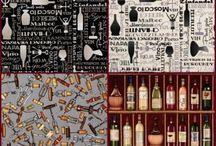 Wine - Cheaper Than Therapy! / Beautiful Wine and Vineyard Fabrics