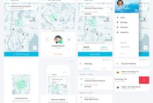 parking app wireframes