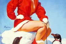Vintage Posters/Cards &Pin Ups