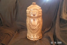Zebrawood Urn Hand crafted by Joe Frank / 14'' tall Beautiful hand carved urn. / by Daniel Frank