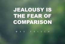 """The Love Quotes Jealousy Quotes : """"Jealousy is the fear of comparison."""" -Max Frisch…"""