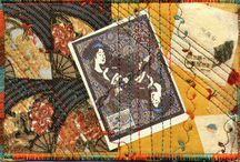 Textile/fabric postcards