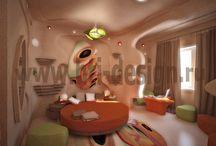Номер отеля в стиле бионика / http://hti-design.ru/portfolio/projects/hotel-room-in-bionica-style.html