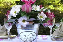 Personalized Wedding Party Centerpieces