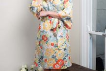 Pure Silk Kimono Robes / 100% Luxurious Silk Robes. Popular to wear as bridal robes before the wedding. Made in Australia