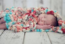 Knitted and crochet baby blankets/ photo props / by Fausta Babenskaite