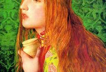 """Pre-Raphaelites & Their Followers / The Pre-Raphaelite Brotherhood (also known as the Pre-Raphaelites) was a group of English painters, poets, and critics, founded in 1848 by William Holman Hunt, John Everett Millais and Dante Gabriel Rossetti. The three founders were soon joined by William Michael Rossetti, James Collinson, Frederic George Stephens and Thomas Woolner to form a seven-member """"brotherhood"""".  (from Wikipedia)"""