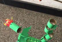 Dragón reciclado #dragón #manualidades #talleres #reciclaje  #ateliermanoalaobra
