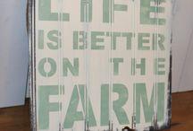 Live is better on the farm / Quote over het boeren leven