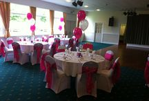 Pink is perfect / hot pink & white work well to add a shock of colour in a plain room
