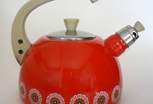 I'm a little teapot, short and stout... Here is my handle, here is my spout! / Vintage, Retro and just plain fun, colourful kettles!
