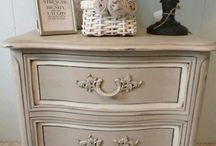 painting, waxing, glaze techniques, distressing, stenciling and decoupaging furniture.