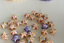 Lucky stars / Dit zijn geluk sterretjes zelf gemaakt van papier