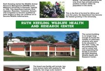 """Ruth Keesling Wildlife Health and Research Center / New Wildlife Veterinary Education facility with a Biohazard Level 1 Lab at Makerere University in Kampala, Uganda. In 1986, MGCF built the world's first """"on-location"""" veterinary center in Rwanda for the protection of an endangered animal. The faculty is teaching locals to become qualified in wildlife health and management or they can continue to become full Wildlife veterinarians. Opened in September 2013 and marked as the largest Wildlife Veterinary Education and Research facility in Africa."""