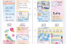 Planner Spreads / My weekly spreads! Go over to helloleahrose.blogspot.com for the details!