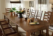 Thanksgiving Dining & Decor / Celebrate Thanksgiving with your WHOLE family seated at one of our beautiful dining sets decorated with a fun and festive tablescape!