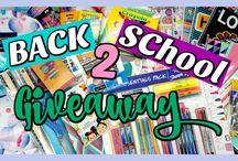 ¡¡Back 2 school Giveaways!!