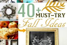 Fall Ideas / Recipes, crafts, home decor and more to celebrate the change of seasons and the cool autumn weather.  / by Kenarry: Ideas for the Home