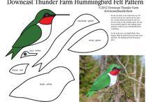фетровые птицы