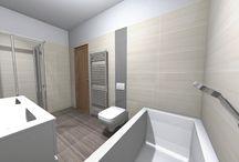 3D plán badhroom apartman on Budapest
