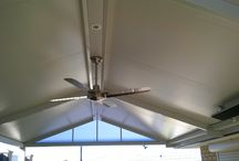 Solarspan Gable Patio Roof, Merriwa / A fully insulated gabled patio roof with lights, fans, heaters, everything. Awesome