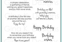 Birthday / Stamps, quotes, etc.