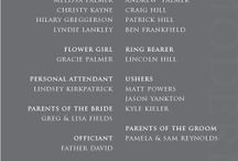 Wedding: ~Invitations/Programs~ / by Jamie Jacobson