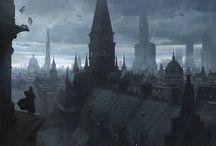 Paysages urbains dark