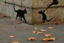 Straatkunst-Street Art / Als je goed je ogen de kost geeft,kun je overal de straatkunst tegenkomen.