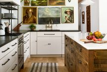 Fantastic Arty Kitchens / Inspiration on making art a beautiful feature of your home - kitchens edition