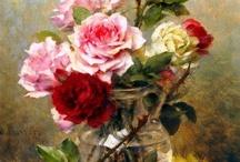 bouquets en peinture