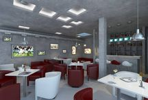 Sports-bar in Skolkovo / Architects: Telemak ANANYAN, Gohar ISAKHANYAN, Anahit MKHCHYAN, Armen GHAVDJYAN, Argina KOCHKOYAN 3d modeling and visualization: Diana AGHAJANYAN / by ITHAKA Architecture&Design