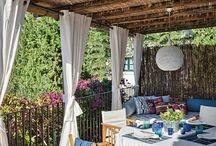 terrazas, jardines y patios