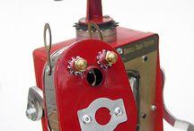 Sculptures, Steampunks, Cyberpunks, Retro, Vintage, Robots & Junkbots / Sculptures, Steampunks, Cyberpunks, Retro, Vintage, Robots & Junkbots