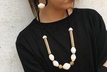 Paper rope jewellery