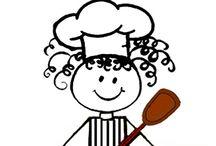Camila na cozinha