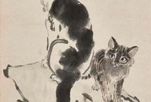 猫 中国水墨画
