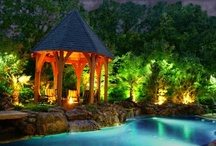 Pool Lighting / Pool lighting spells a difference in creating a mood for your swimming pool. Check out these photos for some inspiration