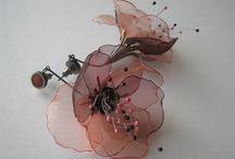 Textilní šperky - naušnice