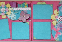 """Mini Pages / Mini pages are a great way to start for many if they are intimidated by scrapbooking 12x12 pages. Our 8"""" Border Sets really make it easy to Frame your Mini pages. I personally like to use Mini albums for special occasions so they can have a book of their own or as gifts to family and friends. They are also perfect for making larger cards as well."""