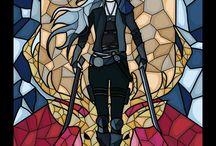 mosaico trono de vidro