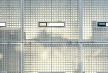 Glass block facade