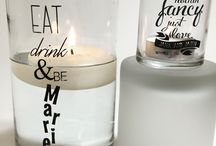 Our bride's creations! / wedding decor, personalized